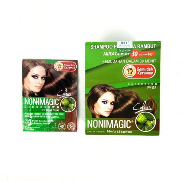 BSY Noni Magic Dark Brown -Box with one sachet